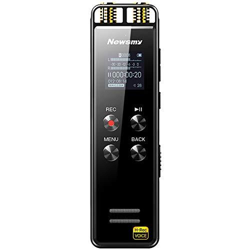 SG MP3 Digital Stereo Voice Recorder, Professioneller HD-Rauschunterdrückungsrekorder/Eingebautes Stereo-Zweikanalmikrofon/Aufnahmeformat: MP3, WMA, WAV