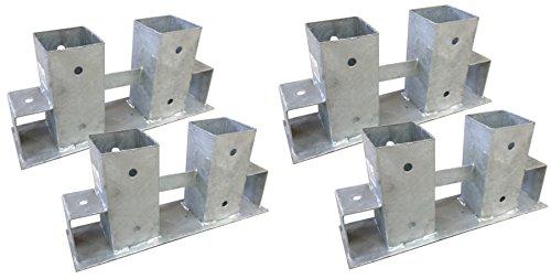 4x Stapelhilfe verzinkt Brennholz Kaminholz Holzstapelhilfe Holz Gestell