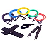 FH Resistance Bands | Home Gym Workout | Exercise Bands | Toning Equipment | Fitness Tubes | Pilates | Yoga| p90x | p90x2 | Total Weight 160lbs