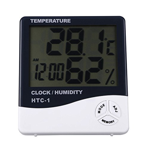 Bulfyss TEMPERATURE HUMIDITY TIME DISPLAY METER WITH ALARM CLOCK - WALL MOUNT OR TABLE TOP