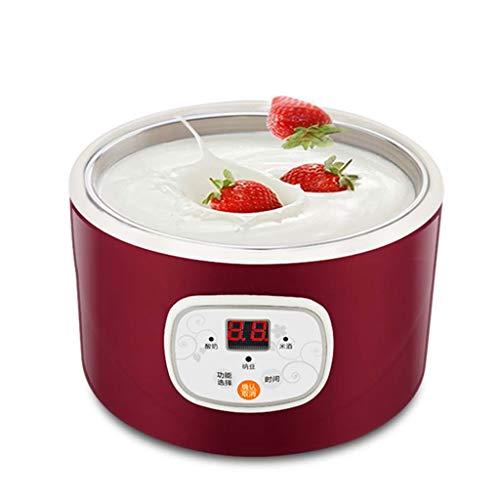 Macchina Automatica Yogurt Elettrico Multi-Funzione in Acciaio Inox Lebei Contenitore natto Macchina del Vino di Riso Quattro griglia Yogurt Tazza 1L