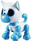RC TECNIC Cane Robot per Bambini Mimi con Musica e Luci   Mini Animale Interattivo Intelligente Gioco elettronico Giocattolo Robot per Bambini (Blu)