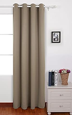 Deconovo Solid Curtain with Eyelet Thermal Insualted Window Treatment Blackout