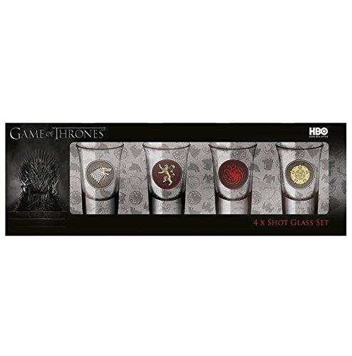 Pyramid International Game of Thrones (4 x Shot-Glas-Set), Mehrfarbig, 31 x 8 x 10.5 cm
