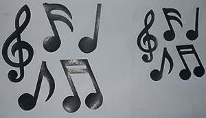 10 Musique Note Black Transfer thermocollant