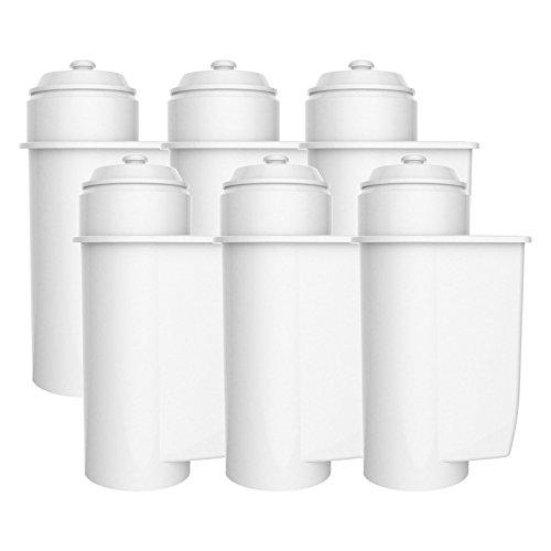 AquaCrest AQK-01 Kompatibler Kaffeemaschinenwasserfilterersatz für Brita Intenza; Siemens TZ70033, TCZ7003, EQ. Serie; Bosch 12008246 - einschließlich verschiedener Modelle von Neff & Gaggenau (6)
