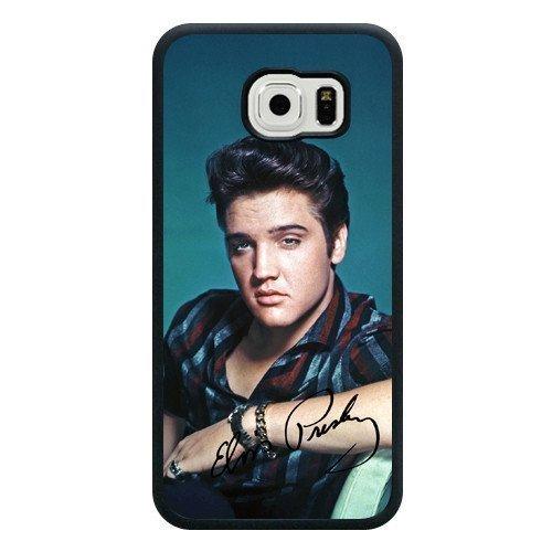 Galaxy S6Schutzhülle, The Hillbilly Cat Elvis Presley schwarz weichem Gummi TPU Samsung Galaxy S6Fall, Elvis Presley Galaxy S6Schutzhülle (nicht fit für Galaxy S6Edge) (Cat Hillbilly)