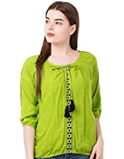 AANIA Beautiful Embroidered Exclusive Casual Cotton Women's Top