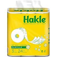 """Hakle Toilettenpapier """"Natürlich Pflegend mit Kamille und Aloe Vera"""" 3-lagig, 1er Pack (1 x 24 Stück)"""