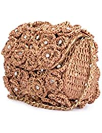 Nitya Biswas Women's Sling Bag (Gold)