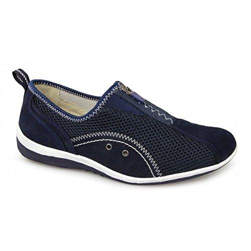 ladies-navy-zip-and-elastic-gusset-leisure-casual-shoe-navy-size-uk-ladies-size-5