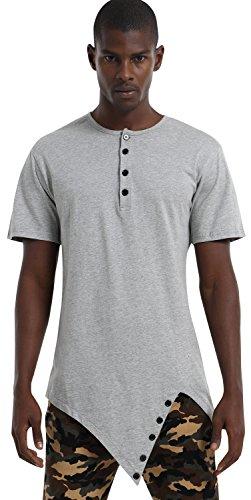 pizoff-unisex-longline-unbalance-diagonal-cut-tee-t-shirts-with-asymetrical-hem-p3118-grey-xl