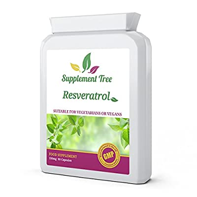 Resveratrol 150mg 90 Capsules | High Strength Trans-Resveratrol | Potent Antioxidant Targeted Release Capsules | UK Manufactured GMP Guaranteed Quality from Supplement Tree