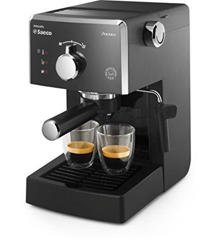 Saeco Poemia HD8323/08 macchina per caffè Libera installazione Macchina per espresso Nero,...