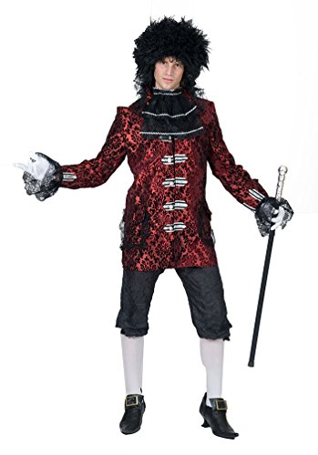 arock Kostüm Herren Renaissance Kostüm Herren Rokoko Herren-Kostüm bordeaux-schwarz Größe 52/54 (Renaissance-kostüm-muster)
