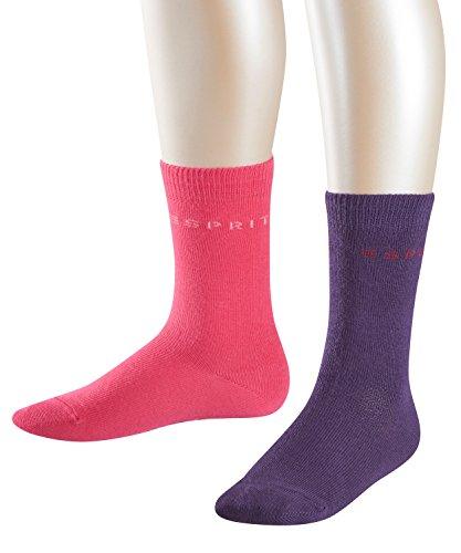 ESPRIT Kinder Foot Logo Doppelpack Baumwoll-Socken, Mehrfarbig (Sortiment 0029), 27-30 (2erPack - Bio-baumwolle Zehe Socken