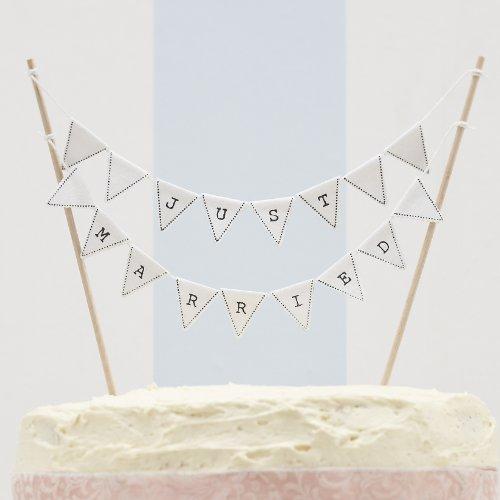 ntage Wedding Kuchen Bunting - Hochzeitstorte Topper ()