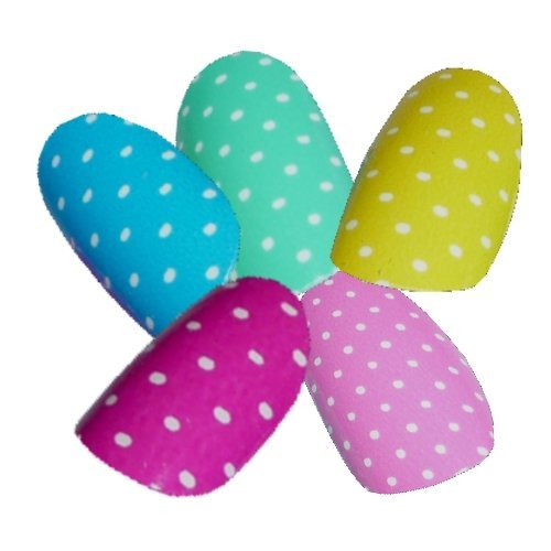 Chix Nails Polka Dot Minx - Adhesivos de vinilo para uñas, diseño de dedos
