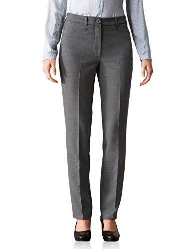 Walbusch Damen 24 Stunden Kofferhose einfarbig Grau 40