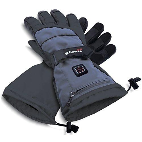 Glovii Ski Universal Beheizte Handschuhe von Batterie erhitzt (XL) (Handschuhe Sichere Beheizte)