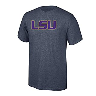 Elite Fan Shop NCAA LSU Tigers Men's Charcoal Icon T-Shirt, Dark Heather, Large