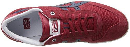 Onitsuka Tiger by Asics Pine Star Court Lo Cuir Baskets Red-Navy