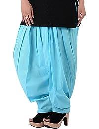 Kurti Studio Women Light Blue Semi Patiala Salwar