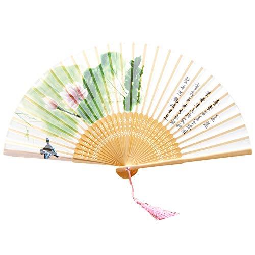 Stoff Kostüm Für Bauchtanz - AIUIN Seide Alter Stil Damen Handfächer Chinesischer Blumen Stoff Fächer Ideal als Hochzeit Geschenk Party Kostüm (Sommer)