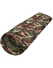 STC Sleeping Bag Cum Mattress (With Inner Blanket) - With Cape, Waterproof, Camouflage Military Green Color (Ideal In 0 Degree Temperature)
