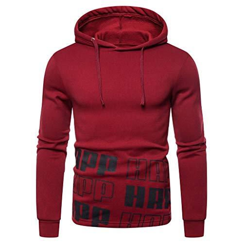 Kostüm Tod Rote Drache - Fenverk Herren Sweatshirt Kapuzenpullover Langarmshirt Pullover Sweats Warm Atmungsaktiv Bequem Jacke Sweatjacke Kapuzenjacke Top Outwear Bluse(F rot,M)