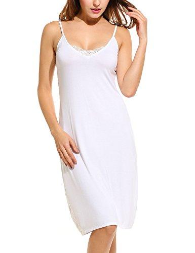 Bett Sleepshirt (UNibelle Damen Negligee Nachthemd Nachtkleid Nachtwäsche Lingerie Träger Kleid Sleepshirt Reizvolles mit Verstellbare Spaghettiträger und Spitze)