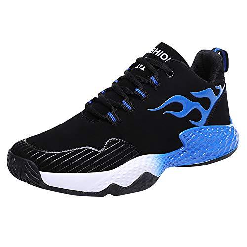 Dorical Herren Sicherheitsschuhe Damen Arbeitsschuhe Turnschuhe Schutzschuhe Fitness Laufschuhe Sportschuhe Schnüren Running Sneaker Netz Gym Schuhe, Ultraleicht Gym Turnschuhe(Blau,40 EU)