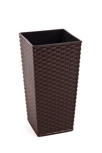 Preisvergleich Produktbild Rattan Blumentopf Übertopf Pflanzkübel Blumenkübel- UV - Beständig 40x40x75 cm braun