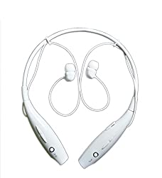 BT-11 Extra Bass Sports In ear Headphones Convenient neckband design: with music / calls controls in the band 4G LTE & voLTE supportive Neck Band Ultra Wireless Bluetooth Headset with Noise Cancelling Stereo Sport Headset Supports Wireless Music Streaming and Hands-Free Calling - Universal Compatibility Secure Fit for Sports, Gym, Running & Outdoor with Built-in Microphone Compatible with All Smartphones,Tablets, Laptops and Desktops (WHITE)