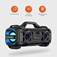 Porodo Portable Party Speaker, Soundtec Pure Bass Wireless Bluetooth Party Speaker with Built-in Rechargeable