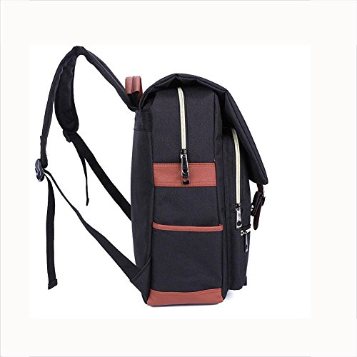 Imagen de rucksack  oxford tela impermeable 18 pulgadas portátil  para hombres y mujeres , black alternativa