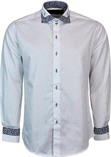 Dontali Herren Freizeit-Hemd Weiß