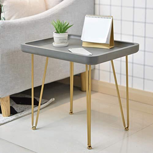 FYONG Nachahmung Beistelltisch Zement Balkon Tisch Eisen Art Mobile Kleine Couchtisch Wohnzimmer 50...