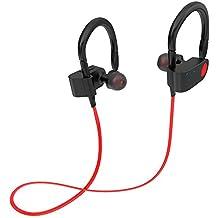 NBKMC Auriculares inalámbricos Bluetooth V4.2 Auriculares intra-auriculares Sport Sweatproof IPX5 Impermeable Neckband Headset Auricular ajustable Micrófono incorporado Auriculares con cancelación de ruido Apto para el Deporte, Gimnasio, Oficina, Conducir, Montar Compatible con Iphone y Android