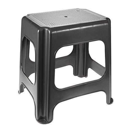 ok Maxi-Hocker, Stabiler Kunststoff (PP), 41 x 33,5 x 42,5 cm, Graphit