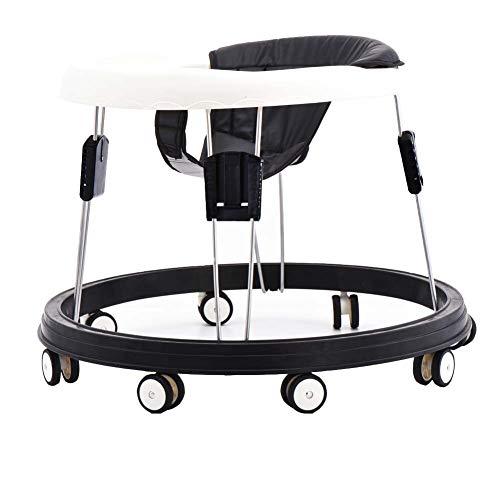 Andador bebe, silla de bebé plegable y ajustable para bebés mayores de 6 meses (Negro)