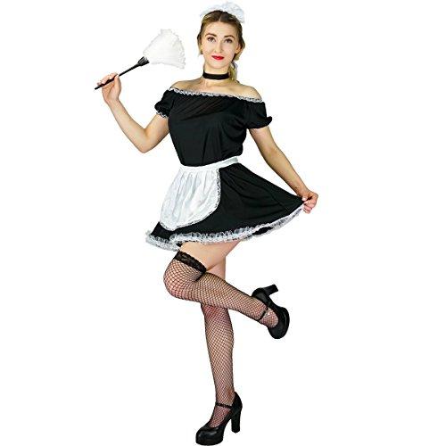 Sea Hare Costume sexy del vestito operato dalla domestica francese delle donne