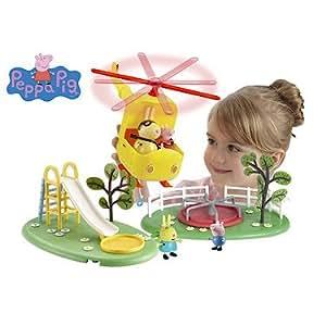 Peppa Pig – Flying High Playset – Hélicoptère, Toboggan, Tourniquet et 4 Figurines