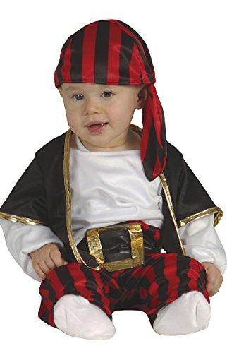Ahoi Piraten Kostüm - Guirca Pirata Kostüm Baby Bimbo 1-2 Jahre, Rot, Schwarz, Weiß, 85561