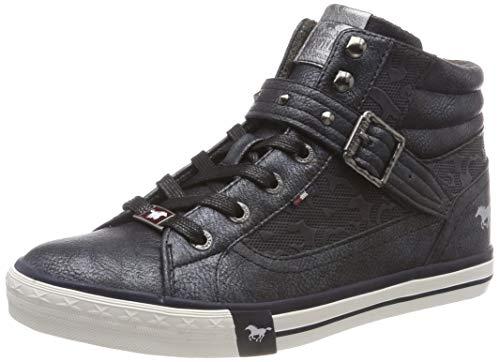 Mustang Damen High Top Hohe Sneaker, Blau (Navy 820), 38 EU
