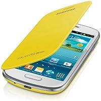Samsung Flip - Funda para móvil Galaxy S3 Mini (Permite hablar con la tapa cerrada, sustituye a la tapa trasera), amarillo