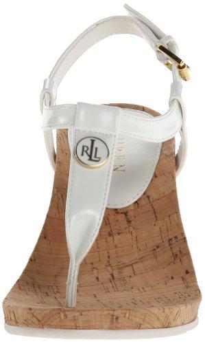 Lauren Ralph Lauren Reeta Synthétique Sandales Compensés RL White