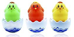 Kolossalz Multicolor Cute Roly Poly and Bath Tumbler Hen toy for 3 Months and Above kids || Pack of 3 Hen Tumblers