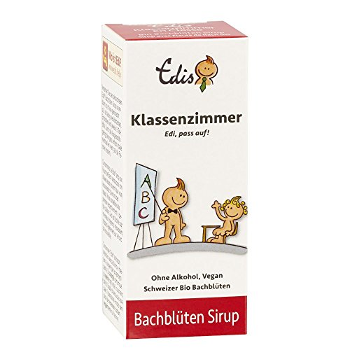 Edis Fertigmix Klassenzimmer Nr. 03 (50ml), Schweizer Bio Bachblüten Liquid (Sirup) ohne Alkohol, in Faltschachtel