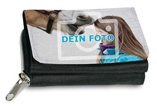 Geldbeutel mit eigenem Foto gestalten (Portemonnaie vollflächig mit individuellem Bild Bedruckt, aus Textil, mit Druckknopfverschluß,...